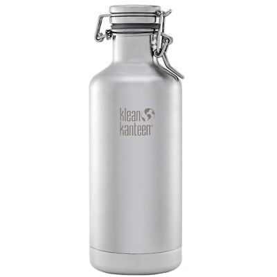 Klean Kanteen Classic Insulated 32oz. Growler with Swing LokCap-BrushedStainless