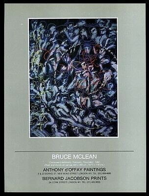 1983 Bruce McLean Contained painting London gallery vintage print ad