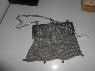 Art Deco Antique Silver Chain Mail Bag Nice Lot