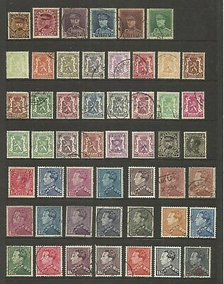 Belgium ~ Small Early Definitive Collection (Postally Used)