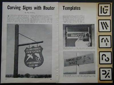 Router Jig & Templates for Sign Lettering How-To build PLANS
