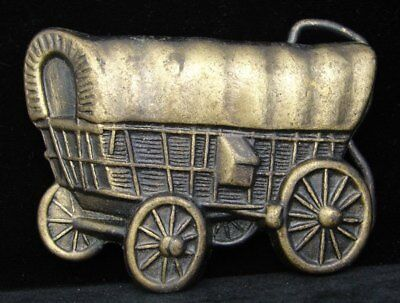 HG20136 VINTAGE 1970s ***COVERED WAGON*** CONESTOGA BUCKLE
