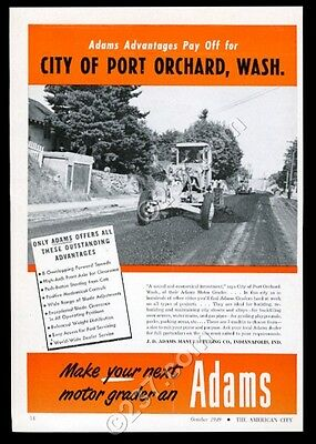 1949 Port Orchard Washington photo Adams road grader vintage trade print ad