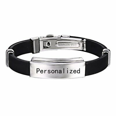 Men's Father's Gift Engrave Personalized Stainless Steel Engravd Bracelet Bangle