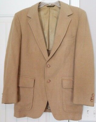 Vintage Palm Beach Tailored in USA 100% Camel Hair Jacket Men's Sz 40R LOOK!
