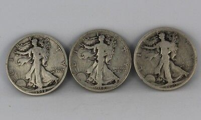 1918-S 1918 1920 Walking Liberty Half Dollar 90% Silver Coins