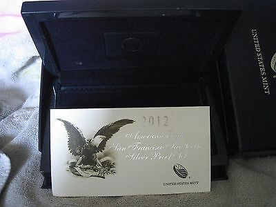 2012 - 2 American Silver Eagle San Francisco Proof Sets Packaging Only No Coins