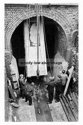pt1496 - Silverwood Colliery Loco decends shaft , Yorkshire - photograph 6x4