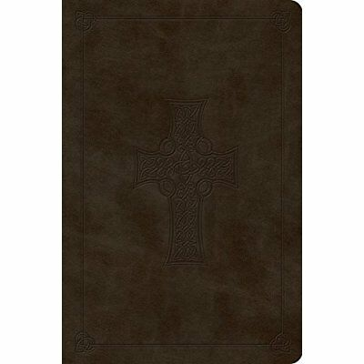 Value Compact Bible-ESV-Celtic Cross Design - Imitation Leather NEW Crossway (Co