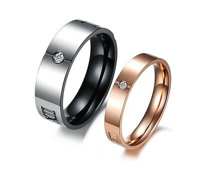 R122 Crystal Promise Ring Roman numerals Lover Wedding Anniversary can wholesale
