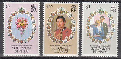 Salomon Islands Nr. 444-446** Royal Wedding Prince Charles - Lady Diana