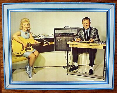 Rare Shot Jackson & Donna Darlene Sho-Bud Steel Guitar Advertisement - ORIGINAL