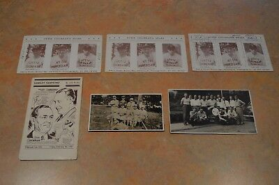 (5) 1910s-50s ERA - PIE TRAYNOR GROUP FROM FAMILY WITH LITTLE LEAGUE PHOTO!!!