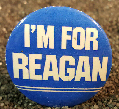 "Rare Vintage Antique 1968 RNC I'm For Reagan Button Pin 1-3/8"" President USA"