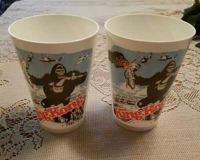 """KING KONG"" 1976 Set of 2 Movie Promo Cups (or more) World Trade Center WTC NEW!"