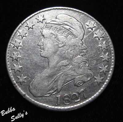 1827 Capped Bust Half Dollar <> VERY FINE