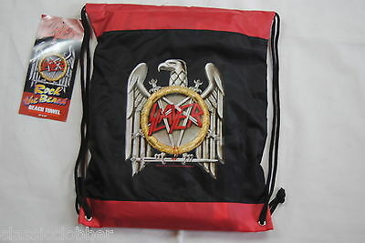 """SLAYER EAGLE BEACH TOWEL & STRING BAG BNWT OFFICIAL REIGN IN BLOOD 29"""" x 60"""""""