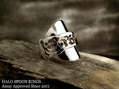 Inverted Solid Silver Spoon Ring 1912 Assay Approved - A Perfect Gift Idea