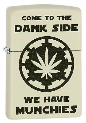 Zippo Lighter: Come to the Dank Side - Cream Matte 29590