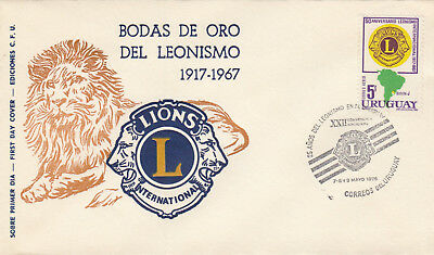 (07090) Uruguay Cover Lions International May 1976