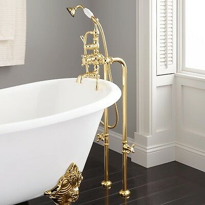 Nottingham Freestanding Thermostatic Tub Faucet with Supplies and Valves