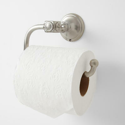 Signature Hardware Vintage Collection Euro Toilet Paper Holder in Satin Nickel