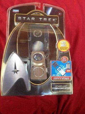 Playmates Star Trek Starfleet Communicator With Holster 2009 WORKING! NEW! NIP!