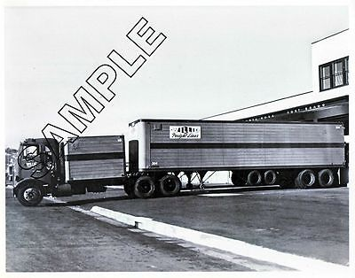 MACK H-61 1950s WILLIG FREIGHT LINES, California DROM BOX 8x10 B&W Glossy Photo