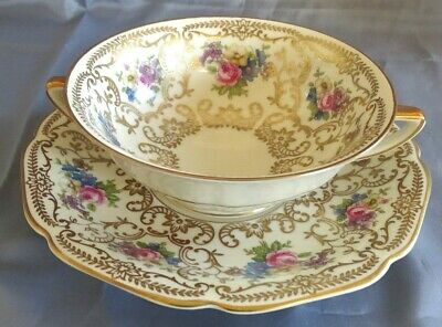 Heinrich & Co Selb Germany #9501 Cream Soup w/Underplate