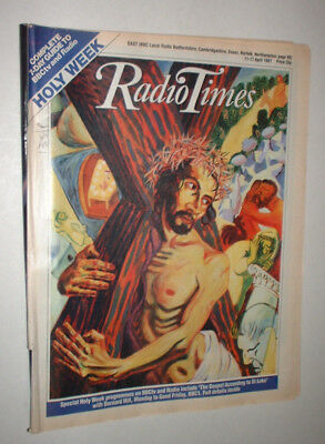 EAST 11/4 1987 RADIO TIMES magazine TELEVISION HOLY WEEK EASTER