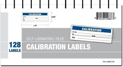 Calibration Labels - Self Laminating in Protective Cover Book (Blue)