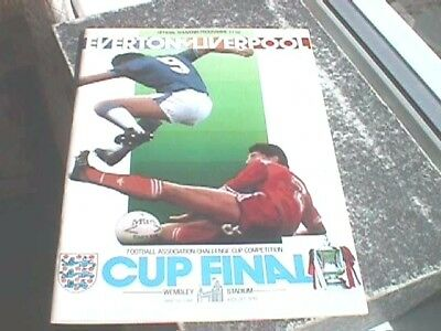 Everton -v- Liverpool - 1986 FA Cup Final Programme