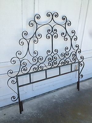 Vintage Wrought Iron Bed Gate Crazy Cool !!  Rusty Gold