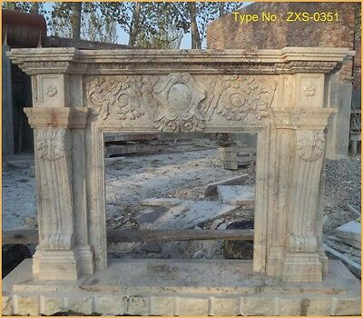 FromFactoryToU! CUSTOMIZE Own Size 100% natural marble fireplace mantel-ZXS-0351