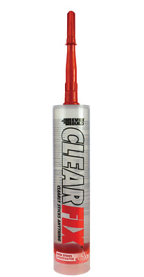 EVERBUILD CLEAR FIX ADHESIVE C3 CLEAR 300ml