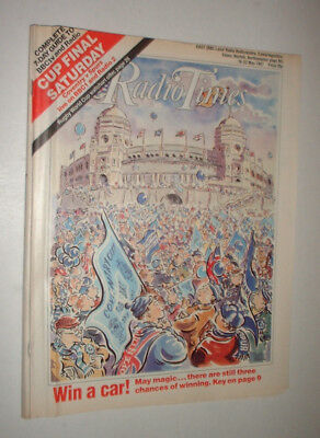 EAST 16/5 1987 RADIO TIMES magazine TV FA CUP FINAL SPURS TOTTENHAM v COVENTRY