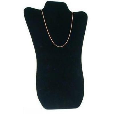 Black Velvet Padded Necklace Pendant Bust Showcase Display 14 1/8""