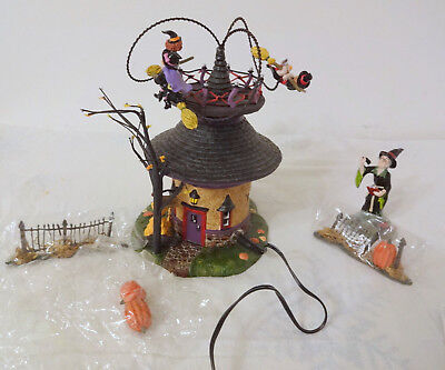 Retired Dept 56 Halloween WITCH WAY? FLIGHT SCHOOL Mint Limited Edition