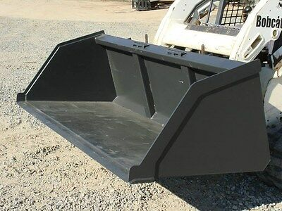 "NEW 84"" SKID STEER LOADER LIGHT MATERIAL SNOW REMOVAL BUCKET,dust 7' bobcat cat"