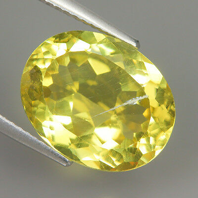 Fabulous 7.74 Ct Natural Unheated Yellow APATITE Oval Gem @ See Video !!