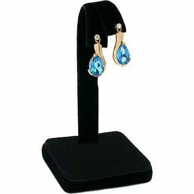 Black Velvet Earring Display Jewlery Showcase Counter 4""