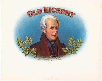 Old Hickory Unused Vintage Inner Cigar Box Label Heavily Embossed and Gilded