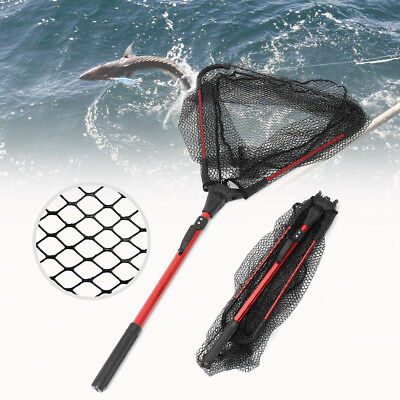 "Fishing Landing Net Fish Telescopic Folding Aluminum Pole Lightweight 16"" Wide"