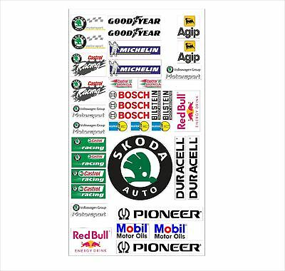 Skoda Logo Autoaufkleber Sponsoren Marken Aufkleber Decals Tuning Sticker Set