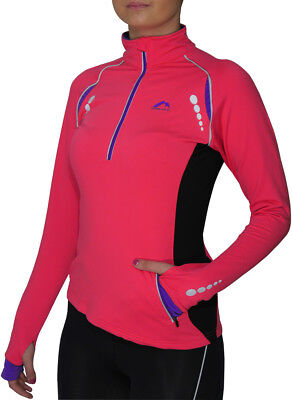 More Mile Vancouver Plus Womens Thermal Running Top - Pink