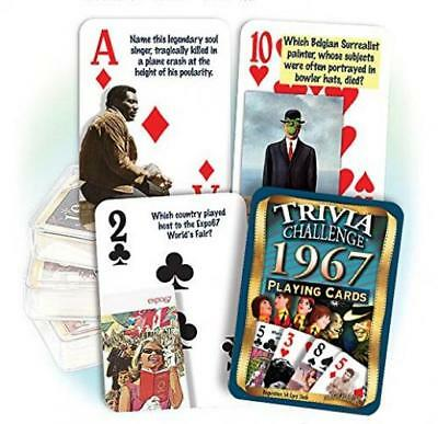 Flickback 1967 Trivia Playing Cards 50th Birthday Or Anniversary