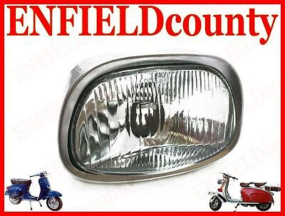 New Vespa Headlamp Headlight Assembly With Bulb Holder Super Sprint Ss180  @aus