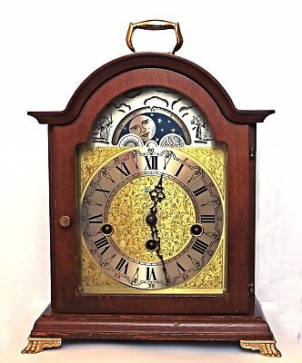 Hermle Westminster Chimes Striking Moon Phase Mantel / Bracket Clock, Serviced