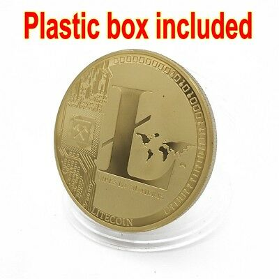 Trendy!Gold Plated Litecoin Coins Vires in Numeris Commemorative Coin Collection