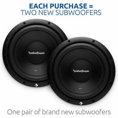 "2 ROCKFORD FOSGATE PRIME R1S410 800W 10"" Single 4-Ohm R1 PRIME Series Subwoofers"